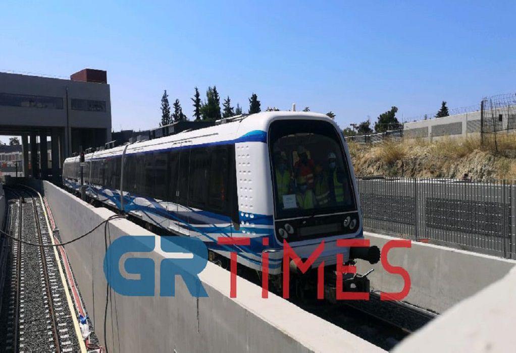Το μετρό Θεσσαλονίκης σε κίνηση για 1η φορά (VIDEO)