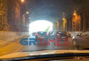 Θεσ/νίκη: Μποτιλιάρισμα στην περιφερειακή οδό (ΦΩΤΟ)