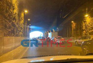 Θεσσαλονίκη: Τροχαίο μέσα στο τούνελ της περιφερειακής (VIDEO)