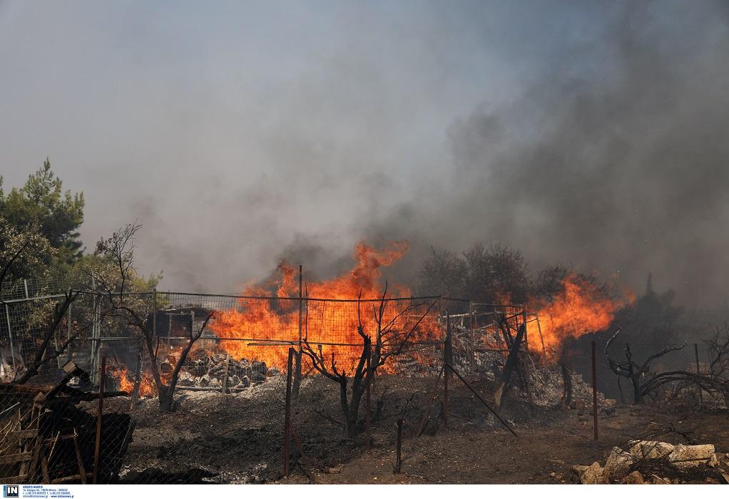 Φωτιά στην Κερατέα: Μέχρι την Κρήτη ορατός ο καπνός!