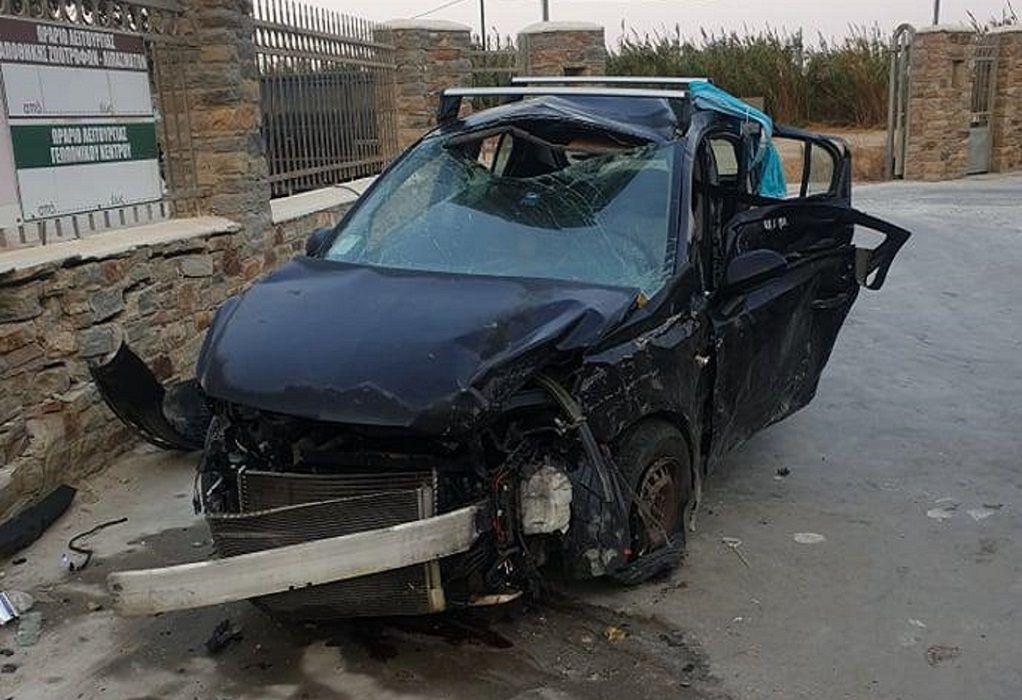 Οικογενειακή τραγωδία με μία νεκρή σε τροχαίο στη Νάξο (ΦΩΤΟ)