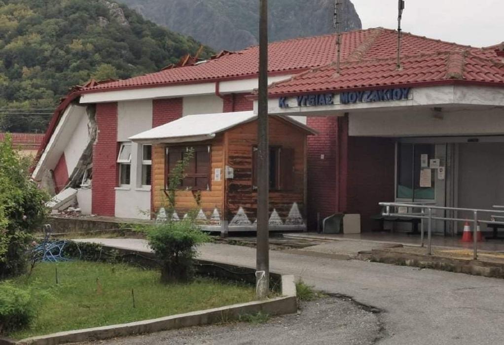 «Ιανός»: Κατάρρευσε το Κέντρο Υγείας στο Μουζάκι