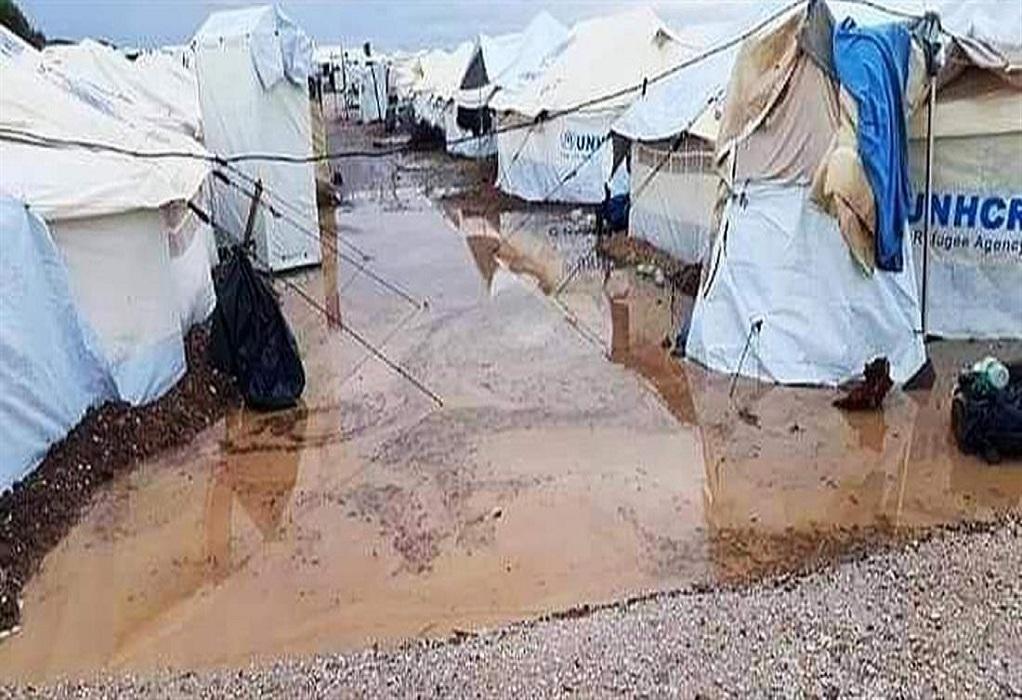 Πλημμύρισε ο καταυλισμός Καρά Τεπέ (ΦΩΤΟ)