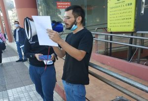Κορωνοϊός: Διαμαρτυρία έξω από τα γραφεία του ΟΑΣΘ για τη συγκοινωνία
