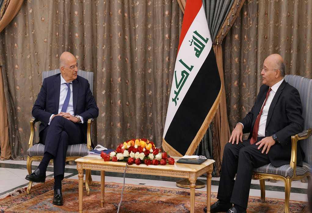 Συνάντηση Δένδια με τον Πρόεδρο του Ιράκ