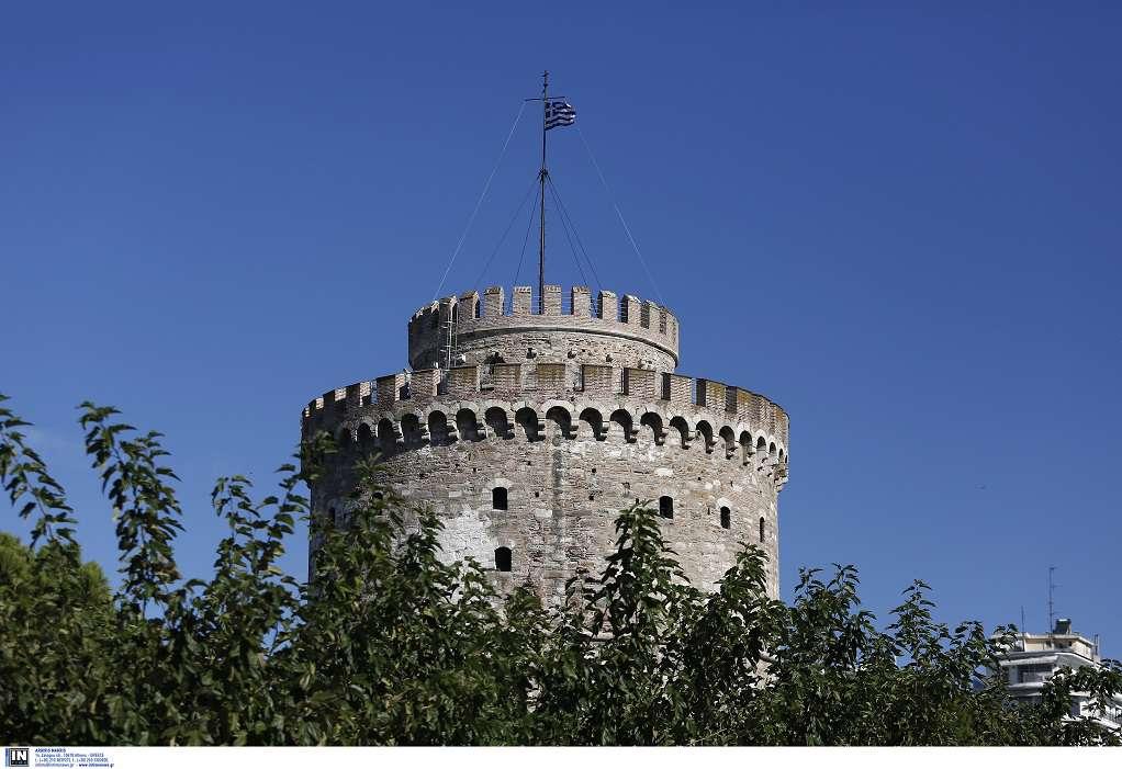 Φωταγώγηση Λευκού Πύργου για την Ημέρα Μνήμης Ελλήνων Εβραίων Μαρτύρων και Ηρώων του Ολοκαυτώματος