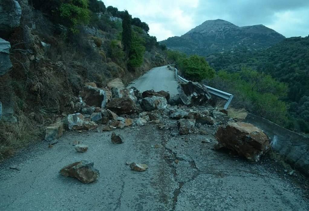 Κατολισθήσεις στην Ικαρία μετά τον ισχυρό σεισμό