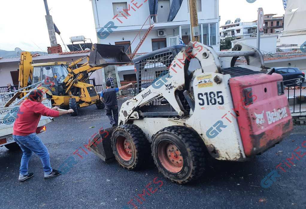 Νέος Μαρμαράς Χαλκιδικής: Ζημιές και διακοπή ρεύματος από ανεμοστρόβιλο (ΦΩΤΟ)