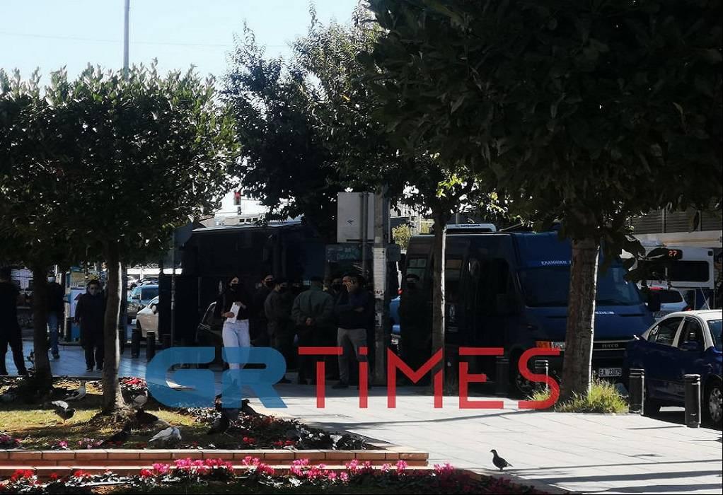 Καμάρα: «Μπλόκο» αστυνομίας σε συγκέντρωση αναρχικών (ΦΩΤΟ)