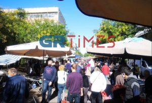 Λαϊκή αγορά Βούλγαρη: Πολλή κίνηση αλλά με τήρηση μέτρων (ΦΩΤΟ-VIDEO)