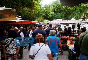Έλεγχοι και πάλι στη λαϊκή αγορά της Κανάρη (ΦΩΤΟ)