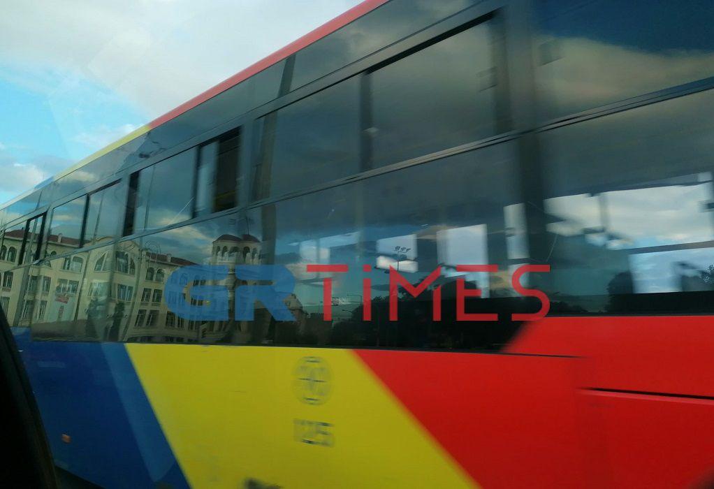 Θεσ/νίκη: Συνθήματα σε λεωφορείο ΟΑΣΘ
