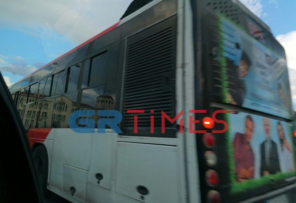 Βλάβη σε λεωφορείο του ΟΑΣΘ – «Φράκαρε» το κέντρο (ΦΩΤΟ)