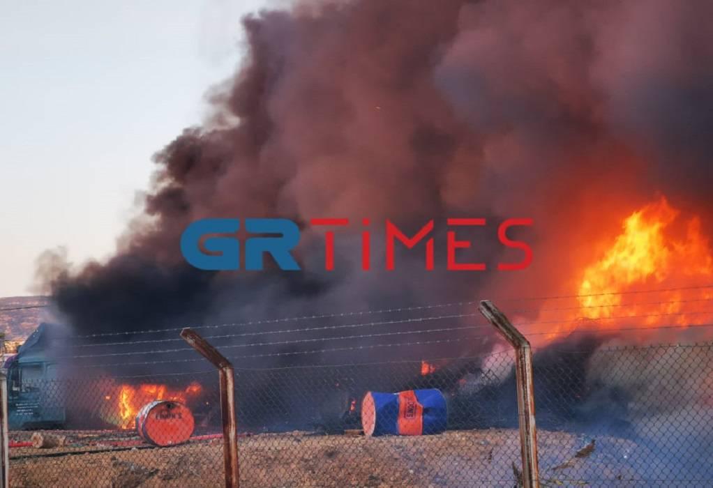 Συναγερμός στην Πυροσβεστική – Μεγάλη φωτιά στη Δυτική Θεσσαλονίκη (ΦΩΤΟ-VIDEO)