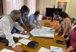 Μυτιλήνη: Επίσκεψη Μηταράκη στα γραφεία Υπηρεσίας Ασύλου