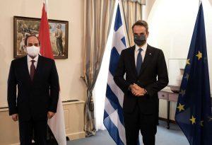 Συνάντηση Μητσοτάκη με τον Πρόεδρο της Δημοκρατίας της Αιγύπτου