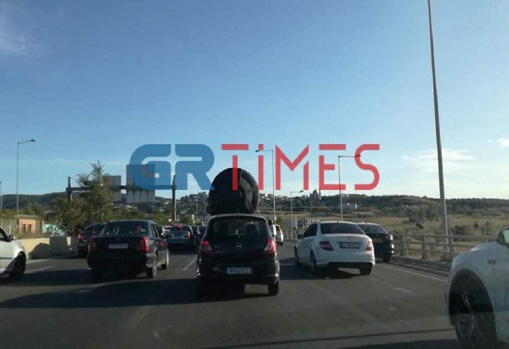 Θεσσαλονίκη: Καραμπόλα στην Περιφερειακή