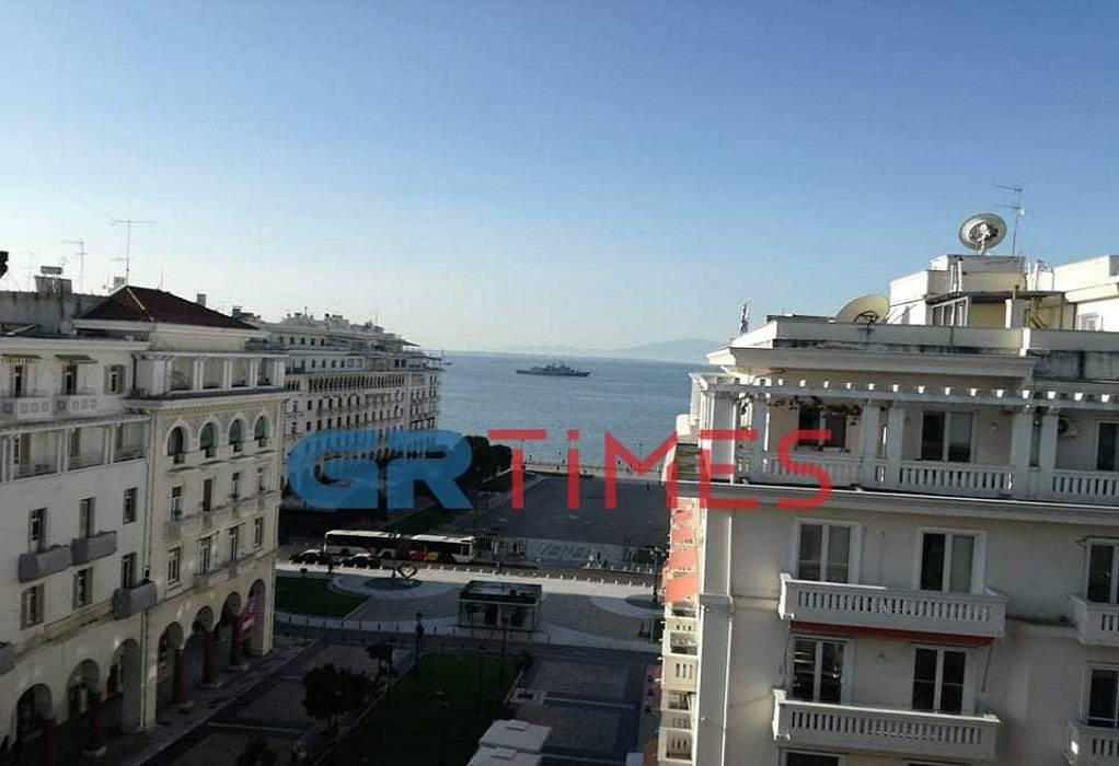 Θεσσαλονίκη: Πολεμικό πλοίο στον Θερμαϊκό