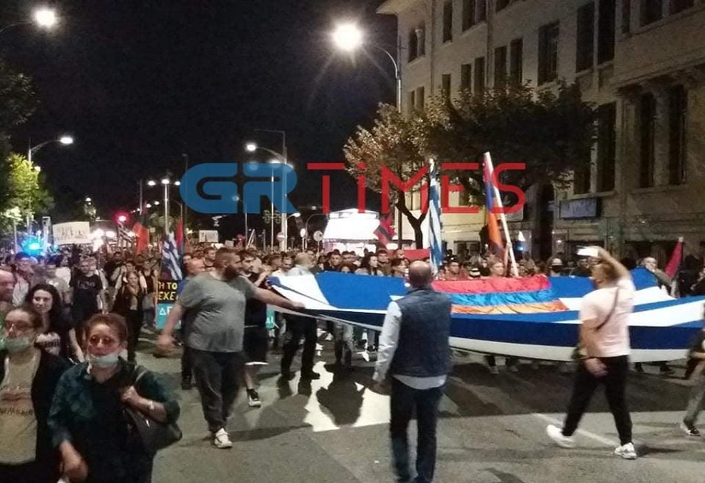 Θεσσαλονίκη: Πορεία διαμαρτυρίας Αρμένιων για το Ναγκόρνο- Καραμπάχ (ΦΩΤΟ-VIDEO)