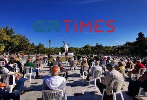 Διαμαρτυρία συνταξιούχων με μάσκες και αποστάσεις στη Θεσσαλονίκη (ΦΩΤΟ+VIDEO)