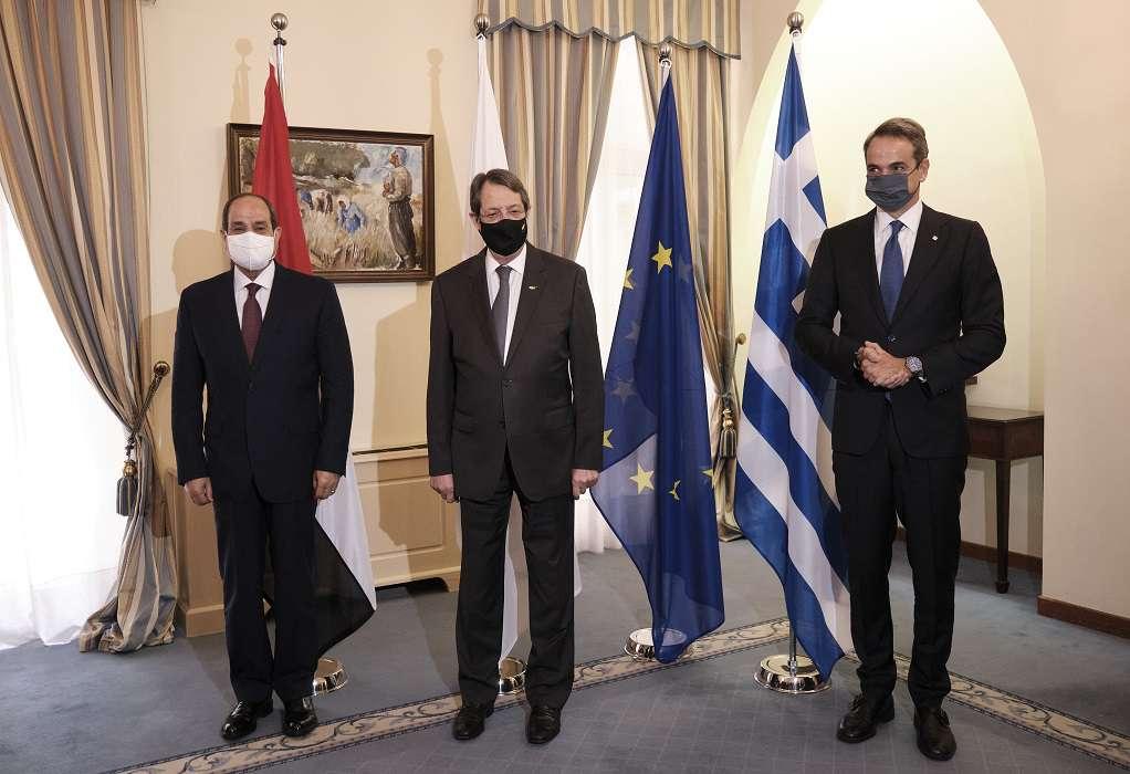 LIVE οι κοινές δηλώσεις της Τριμερής Συνόδου Κύπρου, Ελλάδας και Αιγύπτου