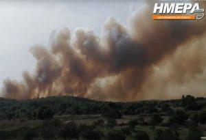 Ανεξέλεγκτη πυρκαγιά στην Ζάκυνθο – Εξετάζεται εκκένωση της περιοχής