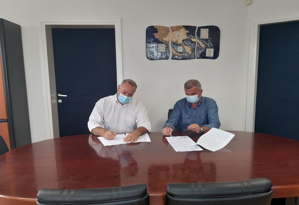 """Υπογραφή σύμβασης έργου """"Κατασκευή τεχνικών-αντιπλημμυρικών επί του οδικού άξονα Πολυγύρου-Αγίου Όρους"""""""
