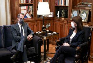 Τακτική συνάντηση του πρωθυπουργού με την ΠτΔ