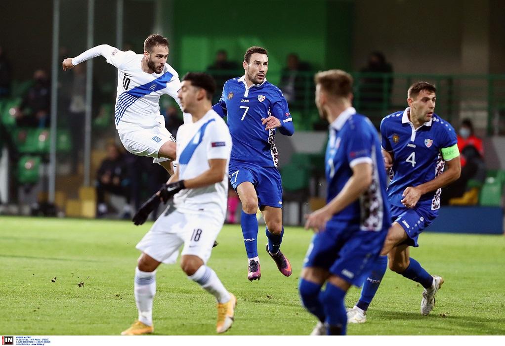 Ζωντανή για την πρωτιά η Εθνική, 2-0 τη Μολδαβία (VIDEO)