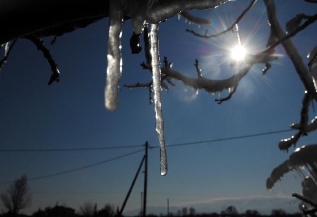 Ισχυρός παγετός στην B. Ελλάδα – Πού έπεσε ο υδράργυρος στους -8!
