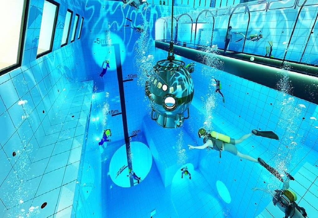 Έτοιμη να υποδεχτεί δύτες η βαθύτερη πισίνα του κόσμου (VIDEO)