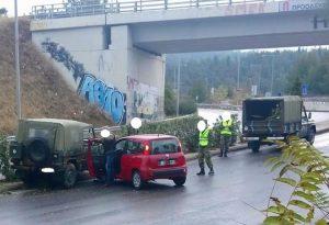 Θεσσαλονίκη: IX συγκρούστηκε με στρατιωτικό όχημα
