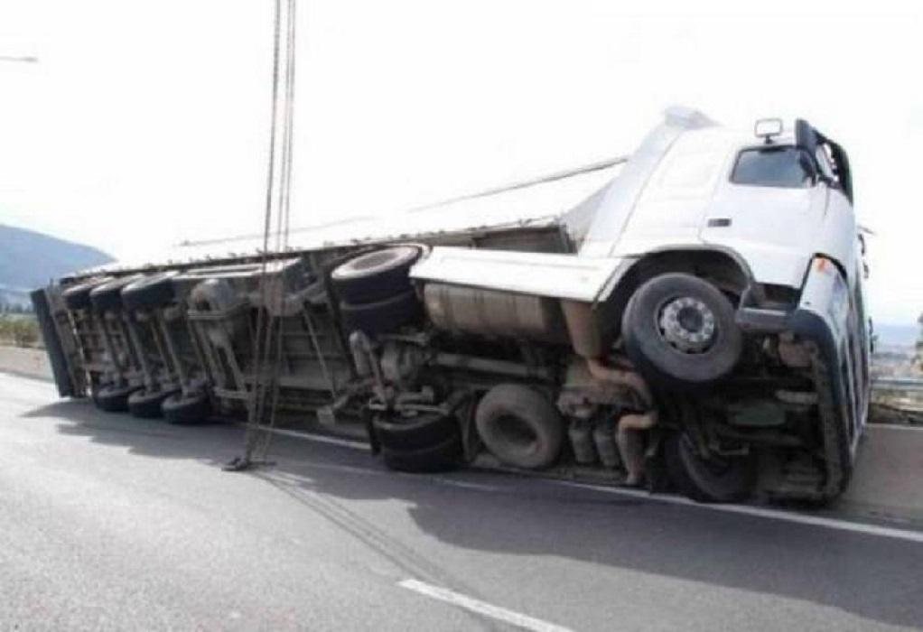 Ε.Ο Θεσ/νίκης-Σερρών: Το ατύχημα έφερε διακοπή κυκλοφορίας και εκτροπές