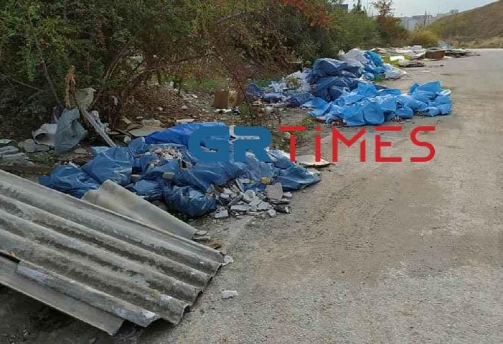 Παράνομη χωματερή σε μικρή απόσταση από το νοσοκομείο Α. Παύλος (ΦΩΤΟ)