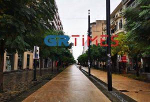 Σε… ρυθμούς lockdown η Θεσσαλονίκη- Δείτε εικόνα από την Αγορά (VIDEO)