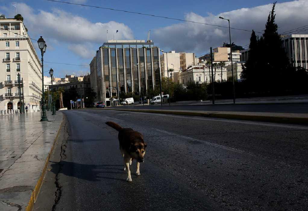 Lockdown: Έρημη πόλη η Αθήνα – Άδειοι δρόμοι και πλατείες