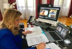 Μ. Αντωνίου: Τηλεδιάσκεψη για το project «Βήματα του Αποστόλου Παύλου»