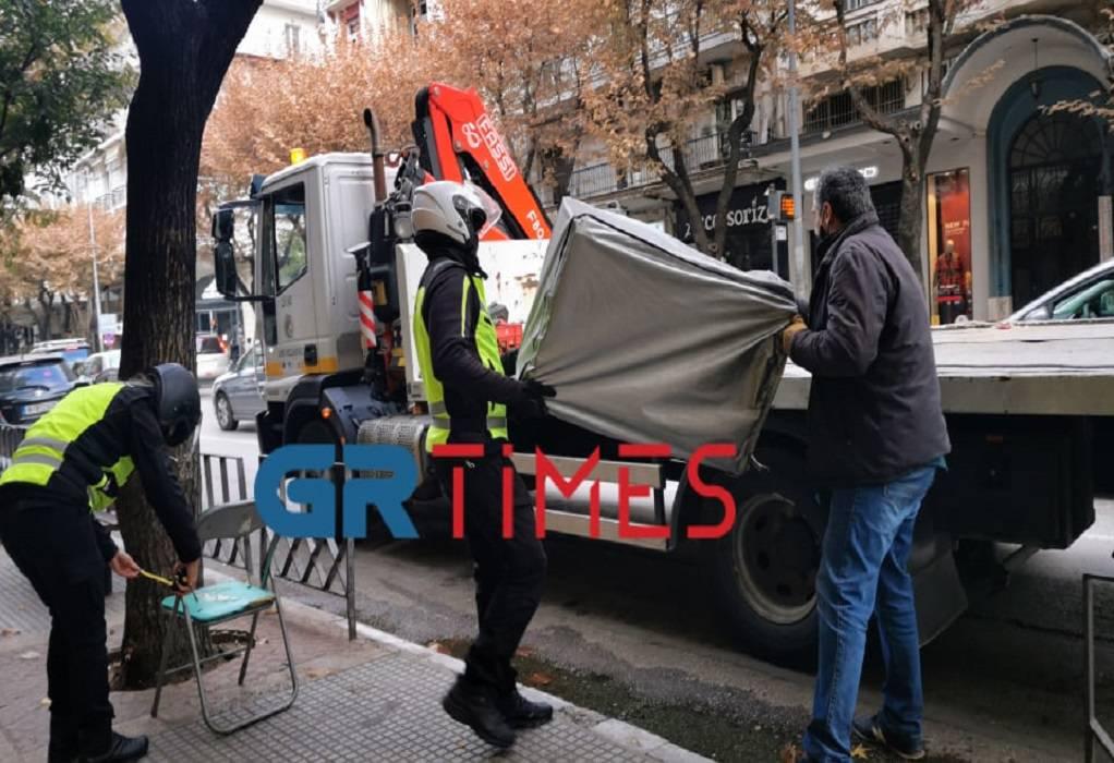 Θεσ/νίκη: Επιχείρηση σκούπα της Δημοτικής Αστυνομίας – Απομάκρυνε παράνομες κατασκευές (ΦΩΤΟ-VIDEO)
