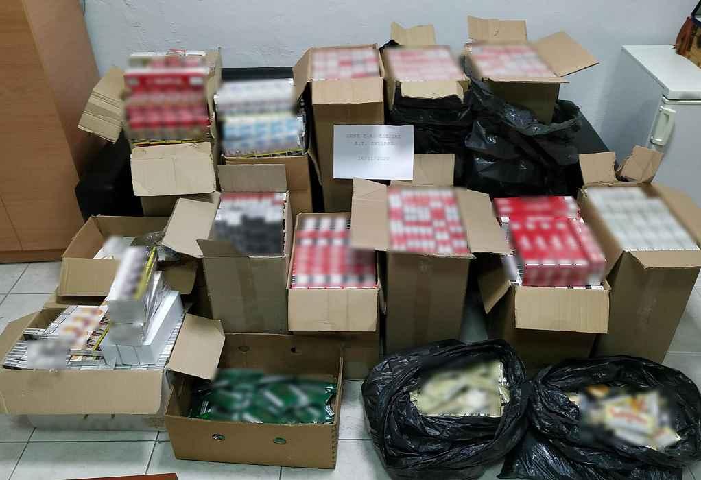 Έκρυβε στην αποθήκη του πάνω από 5.900 λαθραία πακέτα τσιγάρων