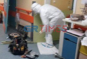 Αυτοσχέδιες ΜΕΘ στο Πανεπιστημιακό Νοσοκομείο Λάρισας (ΦΩΤΟ)