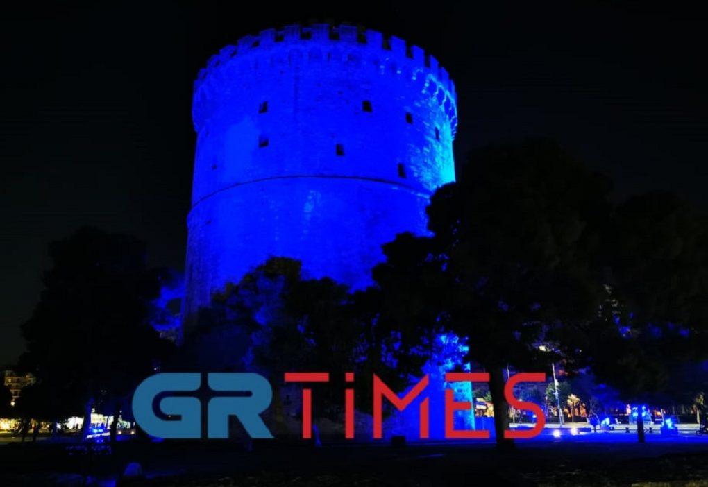 Παγκόσμια Ημέρα Διαβήτη: Στα μπλε ο Λευκός Πύργος (ΦΩΤΟ-VIDEO)