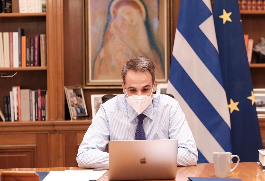 Τηλεδιάσκεψη Μητσοτάκη με τον επικεφαλής της UNICEF στην Ελλάδα