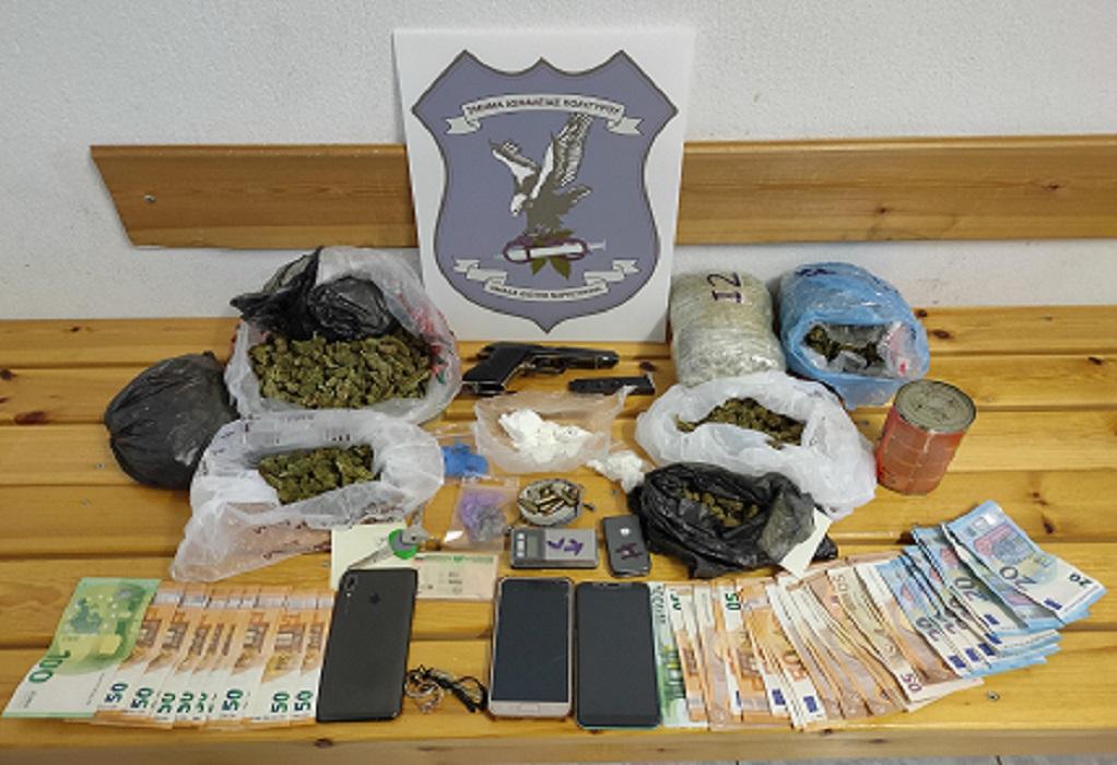 Βρέθηκαν σπίτια τους περίπου 80 γρ. κοκαΐνη και 1,6 κιλά κάνναβης