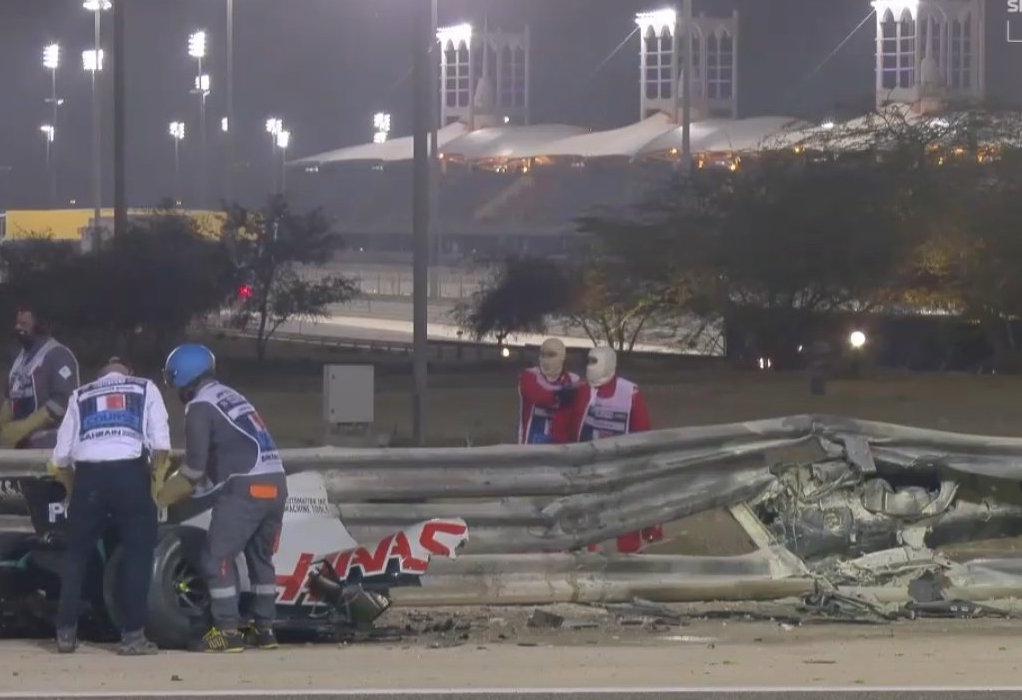 F1: Τρομερή έκρηξη στο Grand Prix του Μπαχρέιν στο μονοθέσιο του Γκροζάν (VIDEO)
