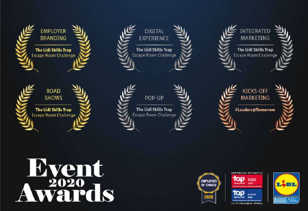 Lidl Ελλάς: Έξι διακρίσεις στα Event Awards 2020