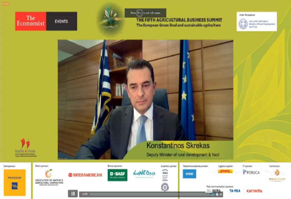 Σκρέκας: Στόχος της κυβέρνησης η διασφάλιση της βιωσιμότητας των Ελλήνων αγροτών