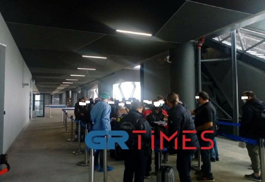 Εικόνες συνωστισμού στο αεροδρόμιο «Μακεδονία» (ΦΩΤΟ)