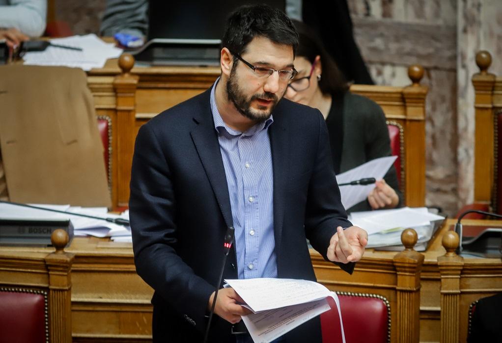 Ηλιόπουλος: Αλαζονική και χωρίς ενσυναίσθηση η κυβέρνηση Μητσοτάκη