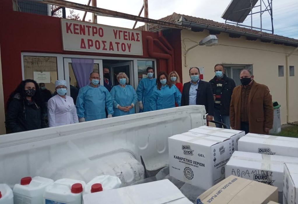 Δωρεά υγειονομικού υλικού στο Γενικό Νοσοκομείο και σε δομές υγείας