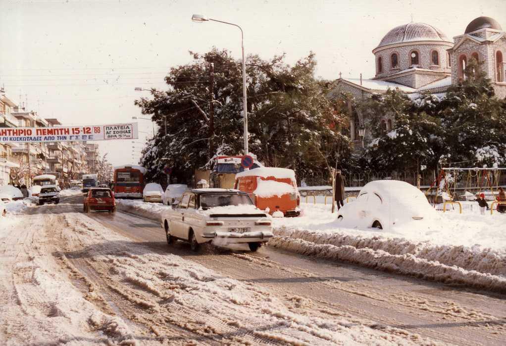 Θεσσαλονίκη 1988: Ένας χιονιάς που άφησε ιστορία (ΦΩΤΟ)